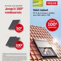 Promotion sur les Velux ! Jusqu'à 100€ remboursés !